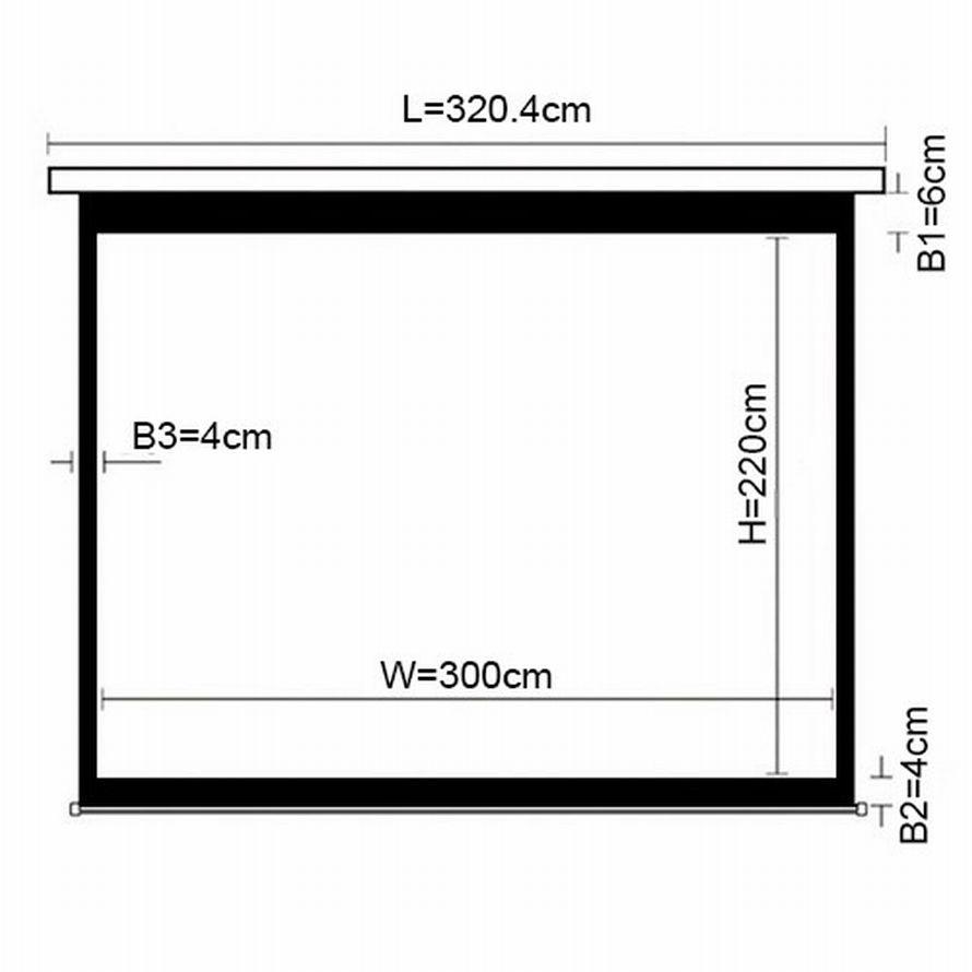 Екран для проектора настінний 300*220 PSBC150 (4:3)