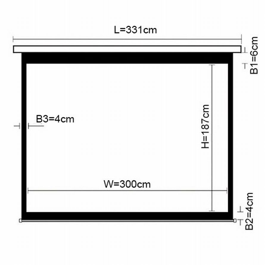 PSAX139D (16:10) Экран моторизированный 300*187
