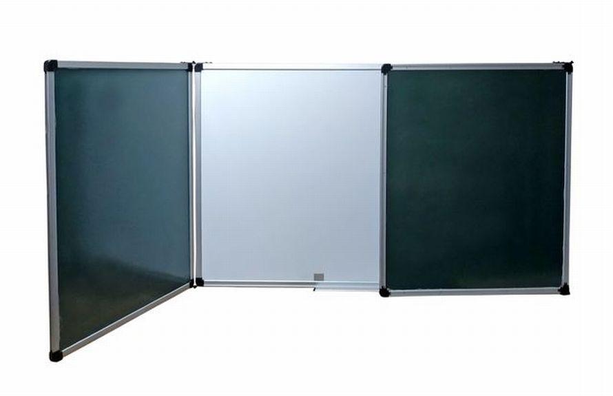 Дошка для крейди - 125х400 см. Поверхня - комбінована. крейда/маркер